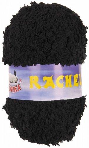 maDDma ® 10 x 50g Kuschelgarn Rachel by Vlnika, 100% Polyester, Verschiedene, Farbe:schwarz