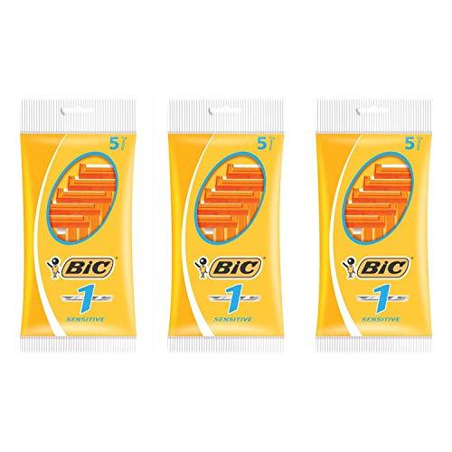 BIC–Set di 3buste X 5Rasoio N ° 1–1Lama Pelli Sensibili