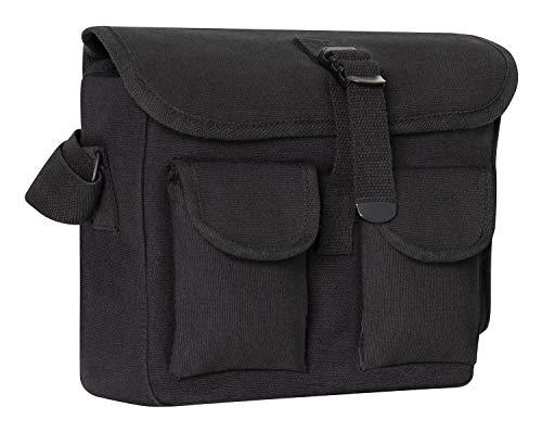 Rothco Canvas Ammo Shoulder Bag, Black