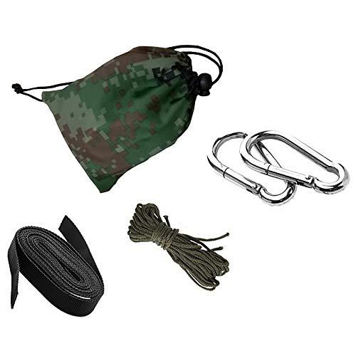 Tomyeer - Correas ajustables para hamaca de árbol, con 2 mosquetones de acero de alta calidad para columpio, camping, al aire libre
