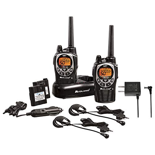 Midland 50 Channel Waterproof GMRS Two-Way Radio - Long Range Walkie Talkie with 142 Privacy Codes,...