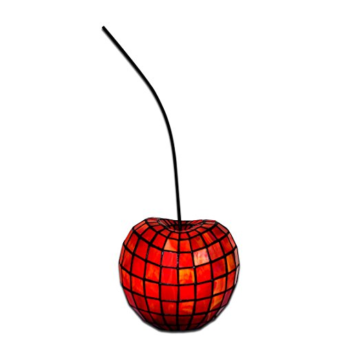 World Art TW60173 Lampes Style Tiffany Cerise, 20x18x16 Cm