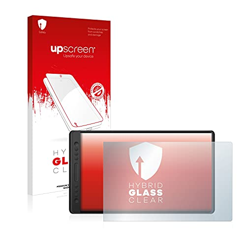 upscreen Protector Pantalla Cristal Templado Compatible con Huion Kamvas Pro 16 Hybrid Glass - 9H Dureza
