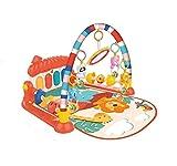 Milindio Manta de Juego para bebé recién Nacido, Manta de Juego para Bebé ,Manta de Juego Musical Estante De Fitness con Pedal De Música Alfombra de Aprendizaje, Manta de Estimulación de Sentidos