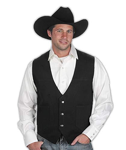 Sunrise Outlet Men's Black Cotton Denim Western Vest-3XL