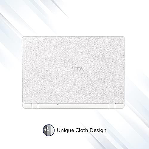 AVITA Essential Refresh NE14A2INC44A-MW 14-inch/35.56 cm(Intel Celeron-N4020/4GB/256GB SSD/Windows 10 Home/FHD/Integrated Graphics), Matt White
