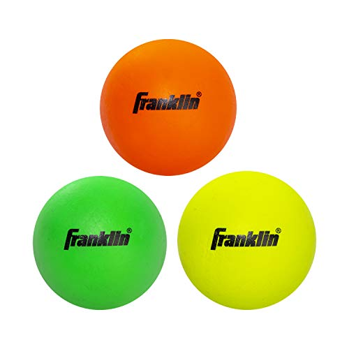 Franklin Sports Lacrosse Balls - Soft Rubber Lacrosse Balls for Kids - Perfect for Beginners & First Time Players - Softer & Smaller Construction Than Regulation Balls for Safe Play - Pack of 3