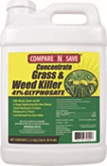 Rainproof in 2 hours Visible results in as little as 2 to 4 days.  Single application kills most weeds Contains 41-percent glyphosate Covers up to 630,000 sq. ft Makes up to 210 gal. of ready-to-use spray