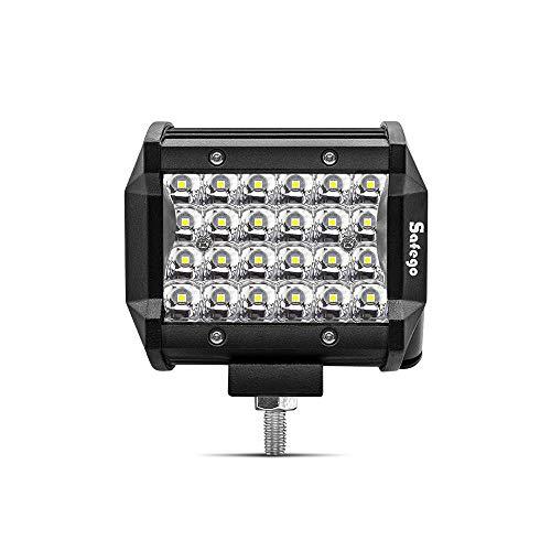 """Safego 4"""" 72W Focos LED Tractor, 6000LM Faros Trabajo LED 12V-24V Foco LED para Tractores IP68 Impermeable Luz de Niebla para Moto Coche SUV UTV ATV Off-road Camión Barco, Garantía de 1 años"""
