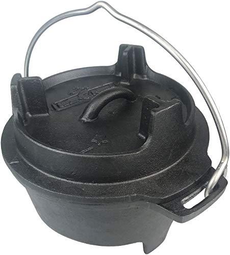 Grillfürst Dutch Oven BBQ Edition DO2 - Gusseisen Feuertopf/Kochtopf