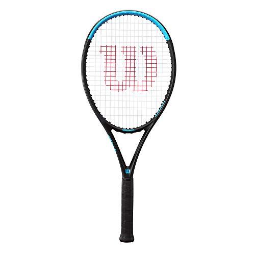 Wilson Ultra Power 105 Raqueta de tenis, Jugador avanzado, Compuesto fibra de carbono, Azul negro, WR055910U1