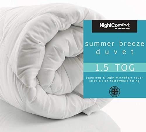 Summer Cool Duvet/Quilt Microfibre Soft Touch 1.5/3 Tog Hollow Fibre Duvet/Summer Breeze Duvet Extra Light (1.5 Tog, Super King)