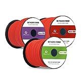Abma Cord Cuerdas Elásticas 100% Cordón de Choque Elástico para Correas Elásticas, Redes de Carga, Elementos de Sujeción 10M o 20M