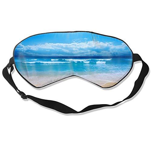 Luxus-Schlafmaske, für Damen und Herren, ultra-weich, atmungsaktiv, mit Licht blockierende Augenabdeckung mit verstellbarem Riemen für Reisen/Nickerchen / Yoga – Rosa Lama