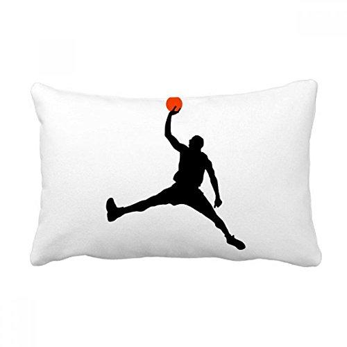 DIYthinker Capa de almofada Slam Dunk Sports Basketball Running Pillow com enchimento lombar Decoração de casa