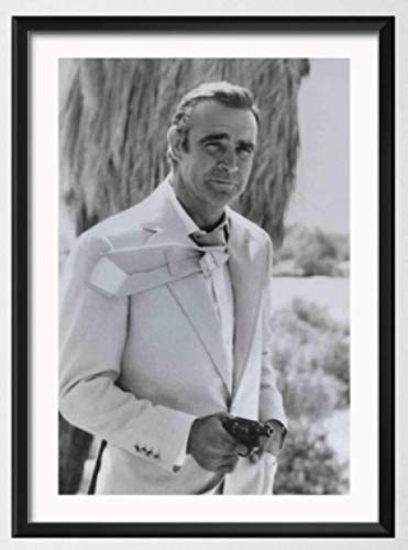 WZGJZ Canvas Print Sean Connery 007 Movie Wall Art Pictures Living Room Home Decor Kw586Zk 40X60Cm Frameless