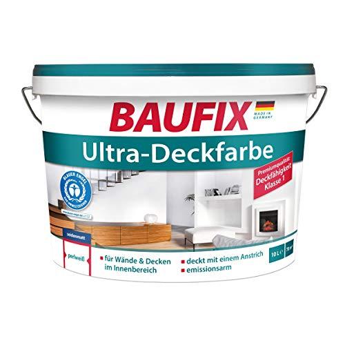 Baufix  Ultra-Deckfarbe 10 L Wand- & Deckenfarbe Perlweiß