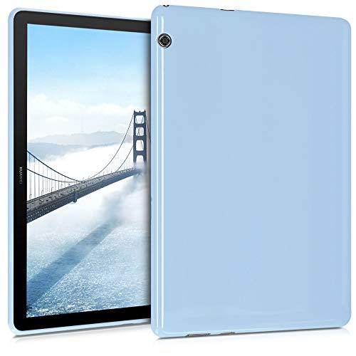 kwmobile Funda Compatible con Huawei MediaPad T5 10 - Carcasa para Tablet de TPU - Cover en Azul Claro
