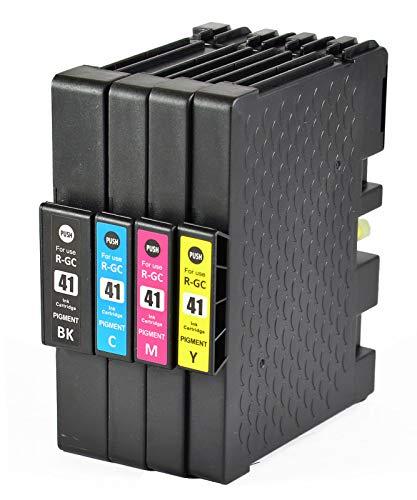 Bergsan 4 Druckerpatronen kompatibel für Ricoh Aficio GC-41 GC 41 XL mit Chip für Ricoh Aficio SG2100N SG3100SNW SGK3100DN SG3110DN SG3110DNW SG3110SFNW SG3120BSFNW SG3120BSF SG7100DN
