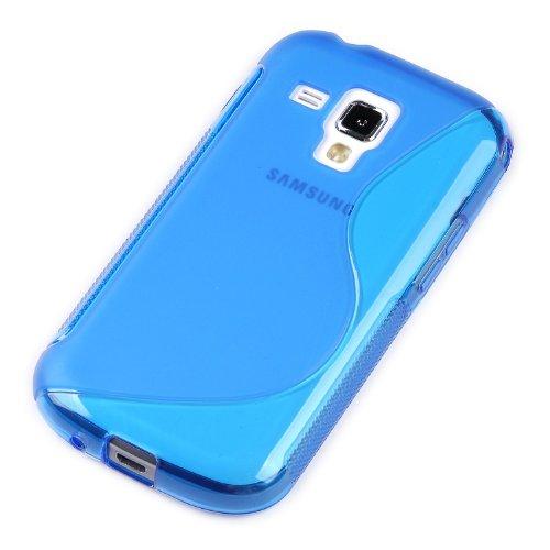 Cover Gel Tpu S-Line Samsung Galaxy Trend Plus Colore Blu