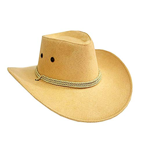 1 sombrero de vaquero accesorio para disfraz, sombrero de vaquera occidental, color beige y rentable y buena calidad duradera