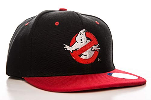 Ghostbusters Logo Embroidered Adjustable Size Official Snapback Cap (Black/RED)