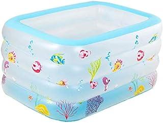 Las piscinas portatiles Piscina Extra Grande bebe piscina Family Fun Salon piscinas Reemplazar piscina del patio trasero de agua inflable piscina cubierta Ninos Rosa Tamano al aire libre azul 125x100x