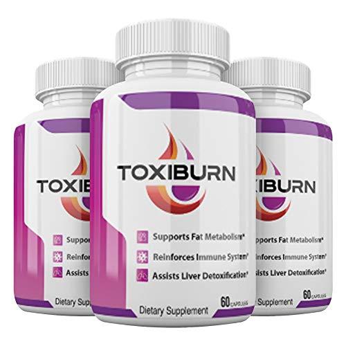 Toxiburn Pills - Toxiburn Weight Loss Pills - Toxiburn Liver Cleanse - Toxiburn Diet Capsules (180 Pills - 3 Month Supply)
