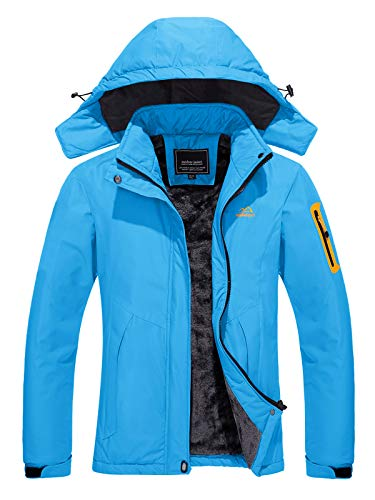 TACVASEN Women's Ski Jacket Waterproof Snow Fleece Inner Hiking Winter Jacket