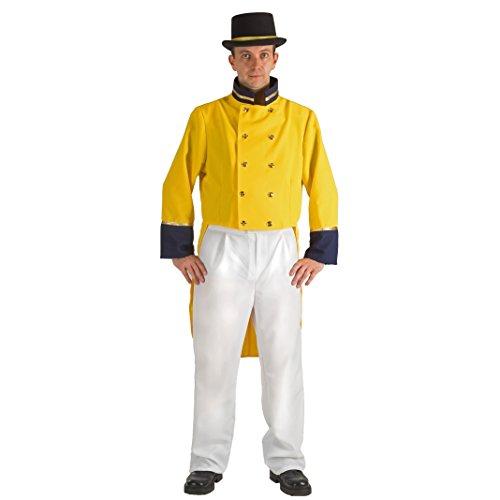 Krause & Sohn Postkutscher Kostüm Historische Uniform Post Frack gelb Fasching Berufe (XL)