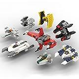 WWEI Maqueta de nave espacial Rebel de Star Wars, modelo TIE Fighter & TIE Defender & Mandalorian Fighter & R-22 Spearhead juguete, 368 bloques de montaje compatibles con Lego