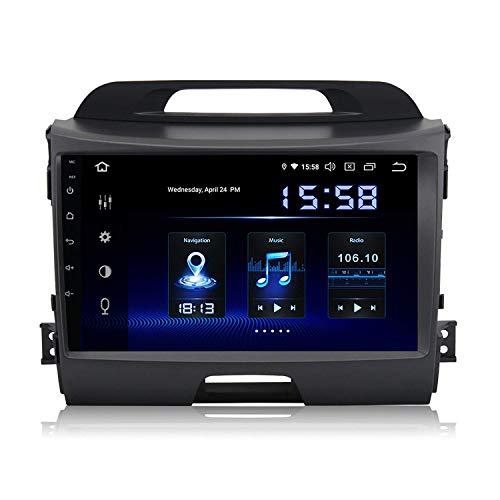 Lettore multimediale per auto 9'1 Din Autoradio Android 9.0 per Kia Sportage R 2010 2011 2012 2013 2014 Bluetooth Car Stereo 4G RAM 32G ROM Supporto GPS Controllo del volante USB Carplay