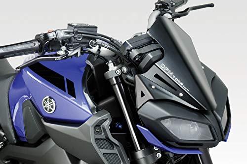 MT 09 FZ09 2017/20 - Windschutzscheibe 'Gullwing' (R-0790B) - Aluminium Windschild Windabweiser Scheibe - Hardware-Bolzen Enthalten - Motorradzubehör De Pretto Moto (DPM Race) - 100% Made in Italy