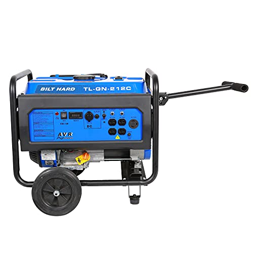 BILT HARD 4500W Gas Powered Outdoor Generator, Gasoline Power Station for Home and Camping Use with Wheel Kit, RV Ready, 50 States, EPA & CARB Compliant