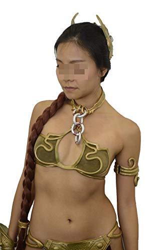 Slave Leia Costume Set Bikini Princess Star Wars Complete Boots Wig (US 7.5)