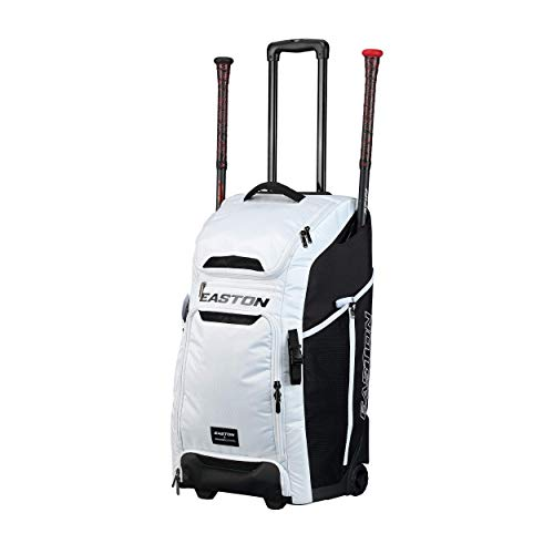 Easton Catcher's Bat and Equipment Wheeled Bag, White, Jen Schro Softball, Female Edition