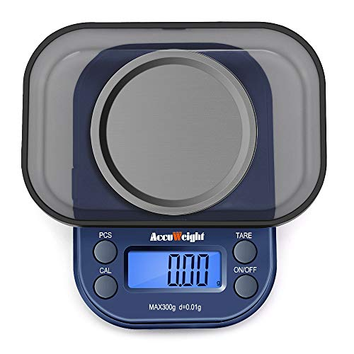 ACCUWEIGHT 255 Mini Báscula de Precisión Digitale para Joyería 300g x 0,01g...