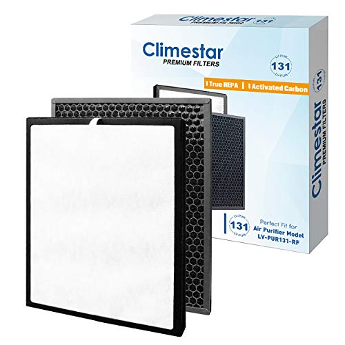Climestar Compatible Replacement for Levoit Air Purifier LV-PUR131 Filter, Part LV-PUR131-RF True HEPA Filter and Activated Carbon Pre-Filter 1 Set