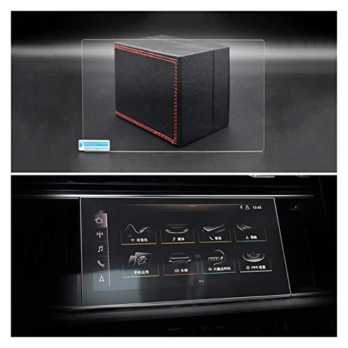 Zhbqcmou Coche LCD Touch Pantalla DE Pantalla DE Vidrio TEMPAREDICO Película Protector de Pantalla for Audi Q8 2019 2020 HNZHB (Color Name : Navigation HD)