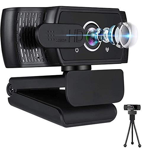 1080P Webcam FHD Live Streaming Kamera mit Datenschutz fur Videoanrufe Online Kurse USB Webkamera fur Desktop und Laptop Konferenzen Zoom Skype FacetimeBesprechungen Linux und MacOSWindows