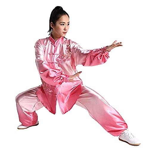 FMOGG Uniformes Chinos Tradicionales De Tai Chi Uniforme De Tai Chi para Mujeres Gradiente Tai Chi Kung Fu Conjuntos De Trajes Uniformes De Artes Marciales Wing Chun Ropa De Meditación Zen, Púrpura-L