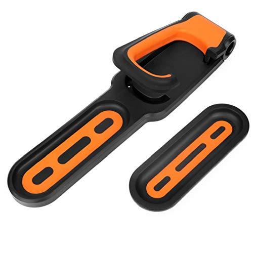 Canjerusof Soporte de Pared Gancho Bicicletas Verticales del Rack de Almacenamiento de suspensión Colgantes titulares Plegable para Trabajo Pesado Garaje Shed Naranja Negro