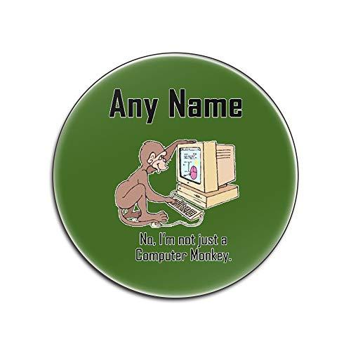 Gepersonaliseerd cadeau - ik ben geen computer aap glans hardboard onderzetter (Gelegenheid ontwerp kleur) elke naam / bericht uniek - mat pad - geen code programmeur carrière baan werk bezetting dier web ontwerper
