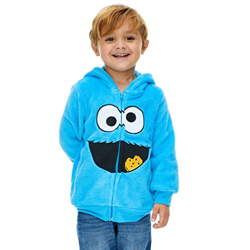 Sesame Street Cookie Monster Baby Boy Girl Fleece Zip Up Costume Hoodie 18-24 Months