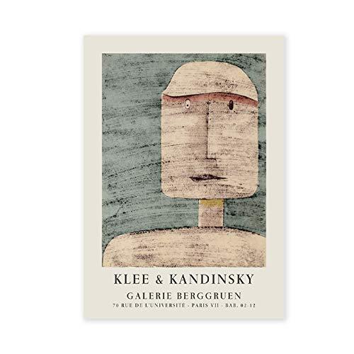 Póster de Wassily Kandinsky Vintage 1960's Galerie Berggruen Exhibition Museum lienzo impreso abstracto sin marco lienzo K 30x45cm