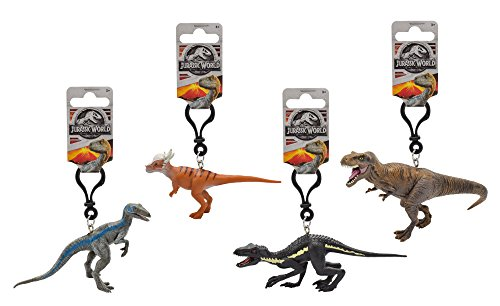 Jurassic World 79172 3D PVC Schlüsselanhänger 7-11 cm - 4 Dinosaurier (sortiert) aus dem Kinofilm - 20x28x9 cm - Modell sortiert