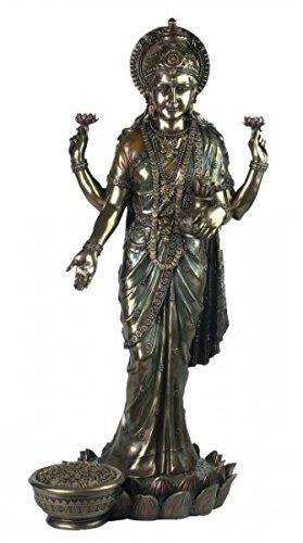 Unbekannt Indische Hindugöttin Lakshmi Göttin des Glücks Hinduismus Figur Indien Statue Gott