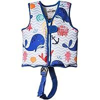 MUNDO PETIT - Chaleco Flotador de Ayuda a la flotabilidad Aprendizaje de la natación, Ideal para niños de 11 a 18 kg.(Ballenas)