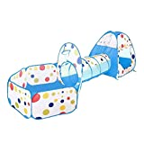 Children 3 in 1 Play Tent, Kids Playhouse & Play Tunnel & Ball
