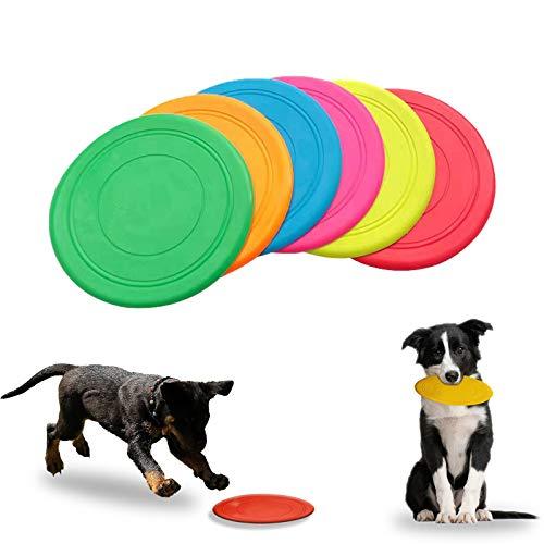 Yisscen Frisbee Giocattolo, Frisbee per Cani Frisbee di Gomma Pieghevole Addestramento Facile da Trasportare Disc Dog, per Cani Giochi Outdoor Dog Formazione Fetch Toy(6 Pezzo, 17.2 cm x 17.2 cm)